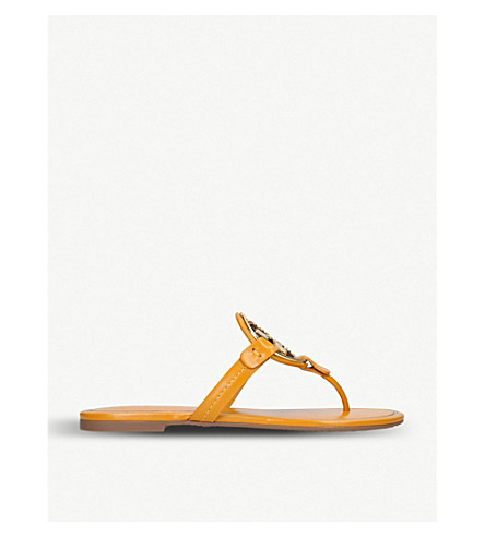 e66abc8286a60 TORY BURCH Miller leather sandals (Yellow