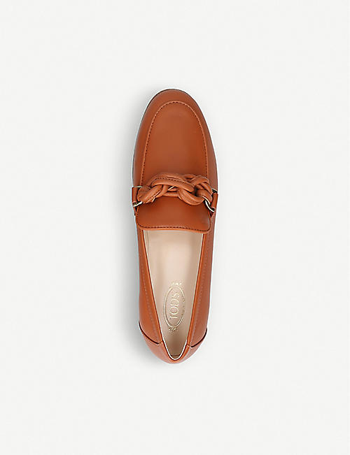 TODS Knot-detail leather loafers