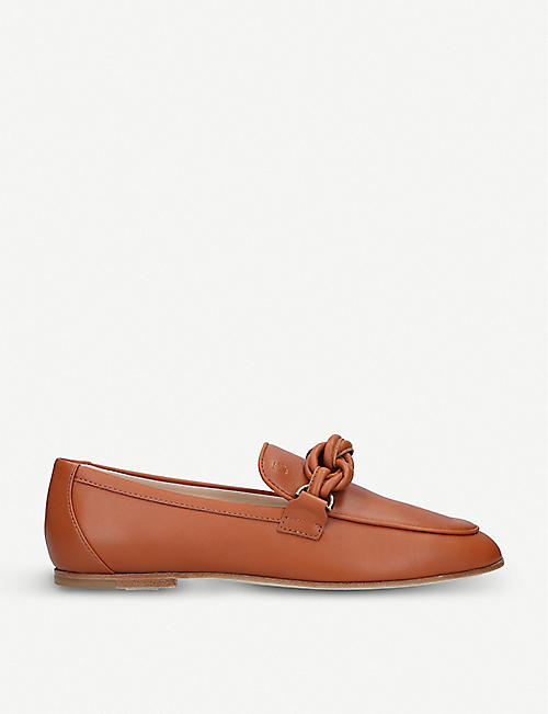 a4e38259b51 TODS Knot-detail leather loafers