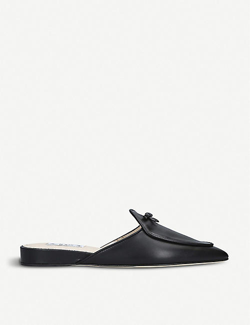 83a83a890ed TODS Zeppa bow-embellished leather mules