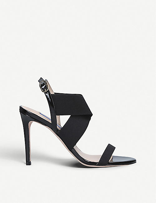 67008b477a4d STUART WEITZMAN Alana crossover-strap patent-leather sandals
