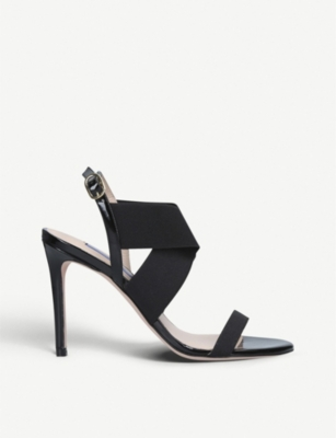 STUART WEITZMAN Alana crossover-strap patent-leather sandals