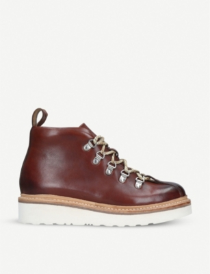 GRENSON Bridget leather hiking boots
