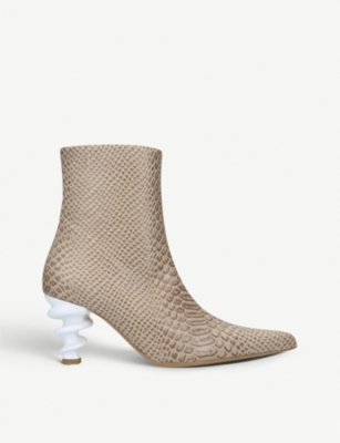 KALDA Island 70 snake-embossed leather boots