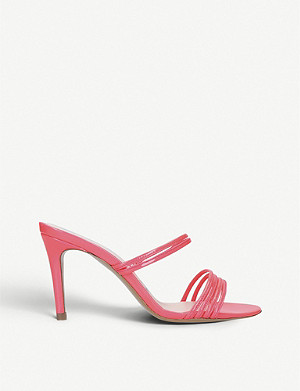 KALDA Simone 85 strappy patent leather mules
