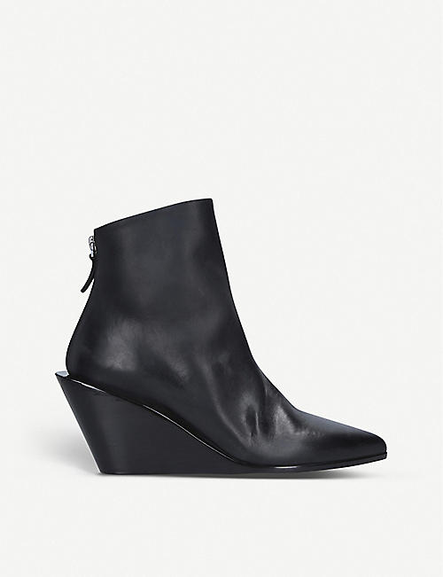 MARSELL Coneppa leather wedge boots