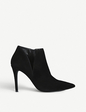 STEVE MADDEN Ariza suede stiletto ankle boots