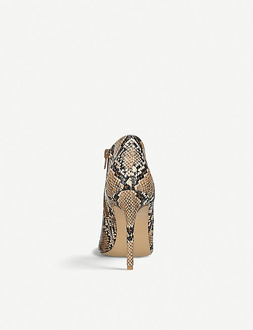 STEVE MADDEN Ariza snakeskin-print leather ankle boots