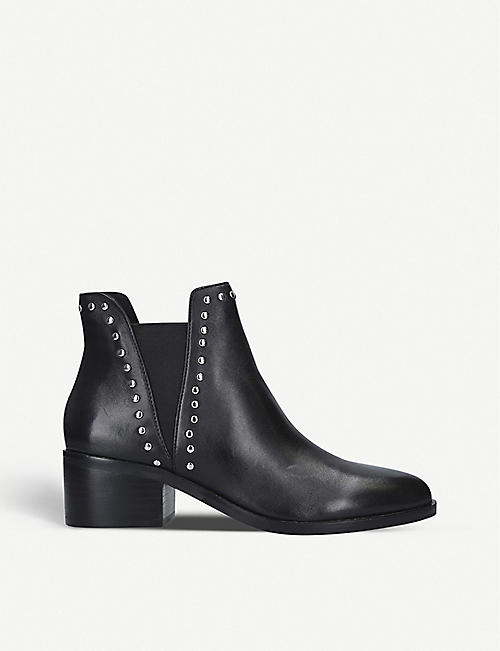 STEVE MADDEN Cade faux-leather Chelsea boots
