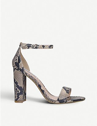 STEVE MADDEN: Carrson leather heeled sandals
