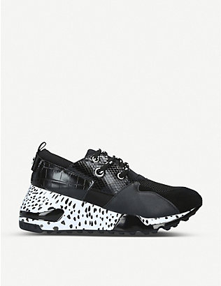 STEVE MADDEN: Cliff leather trainers