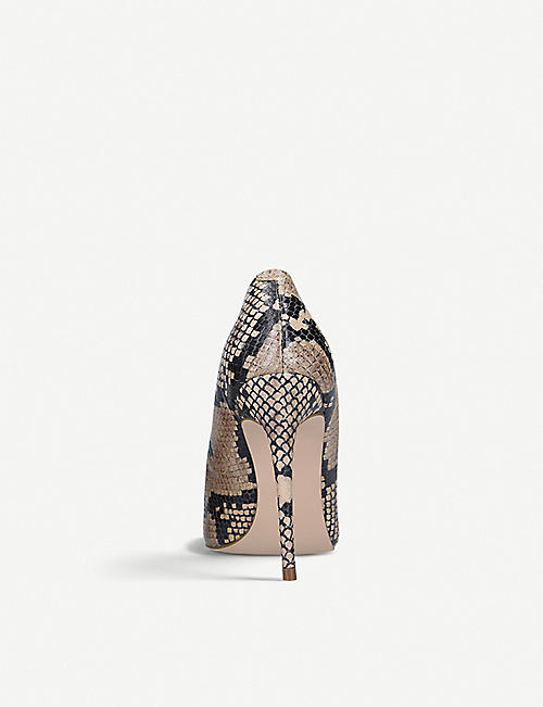 STEVE MADDEN Daisie snake-print leather courts