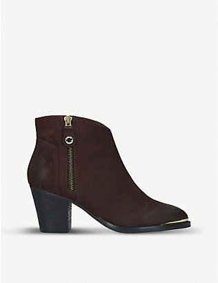 STEVE MADDEN: Francy faded leather ankle boots