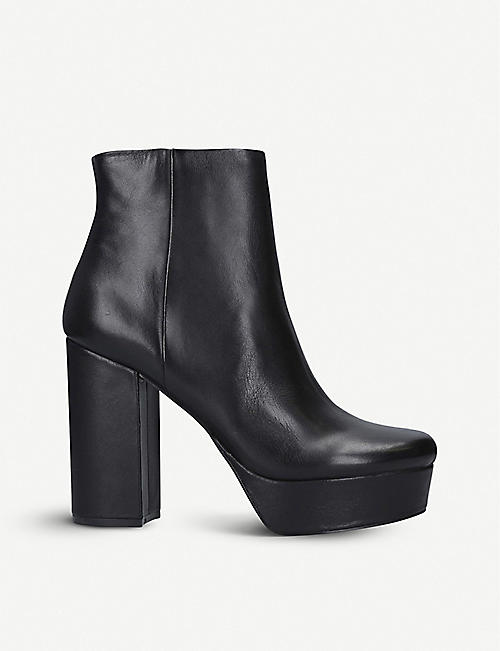 STEVE MADDEN Gratify heeled leather ankle boots