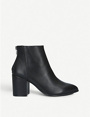 STEVE MADDEN: Jillian leather ankle boots