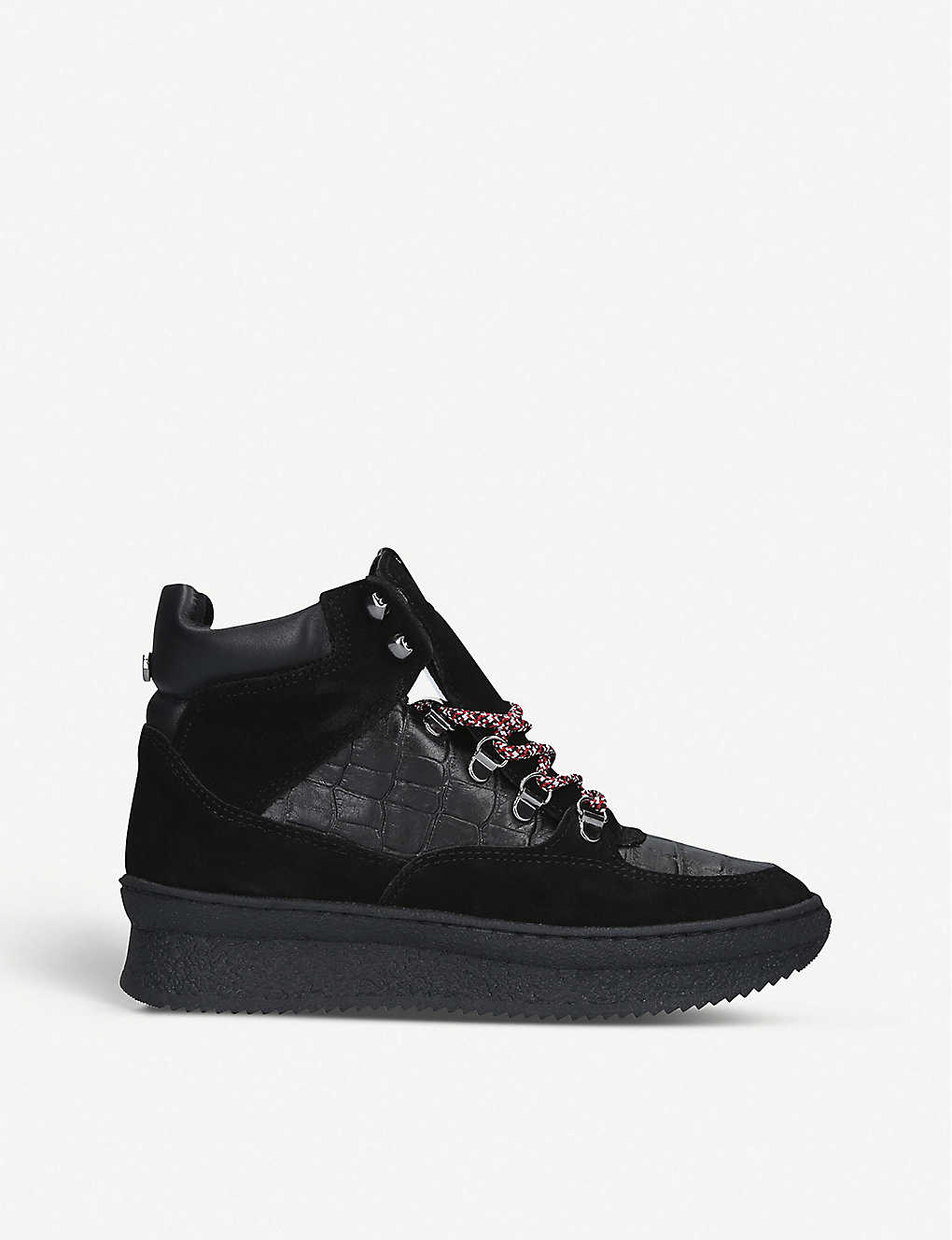 STEVE MADDEN: Pandora suede panelled trainers