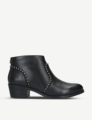 STEVE MADDEN Walball studded leather ankle boots