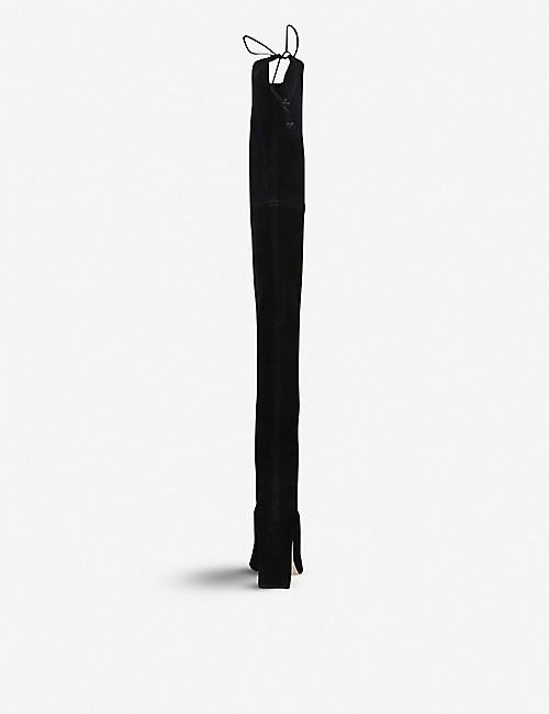 STUART WEITZMAN Kirstie suede over-the-knee boots