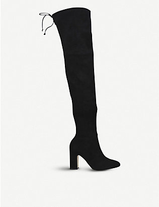 STUART WEITZMAN: Kirstie suede over-the-knee boots