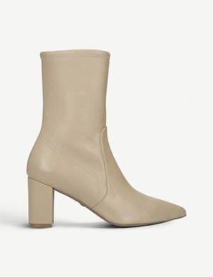 STUART WEITZMAN Landry leather heeled boots