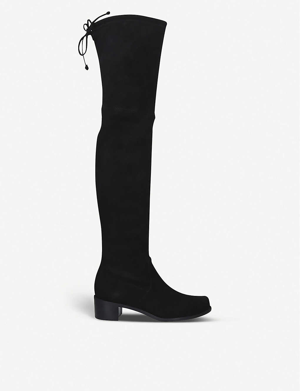 STUART WEITZMAN: Midland over-the-knee suede boots