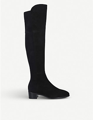 STUART WEITZMAN: Tia suede over-the-knee boots