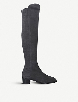 STUART WEITZMAN Tia over-the-knee suede boots