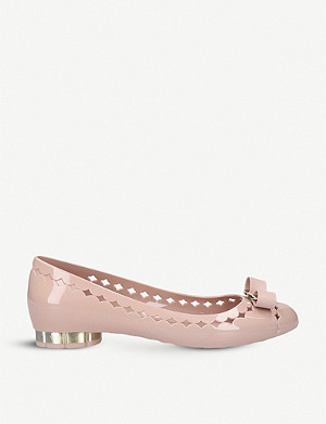 SALVATORE FERRAGAMO Bow-embellished jelly courts