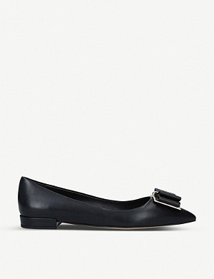 SALVATORE FERRAGAMO Zeri leather ballerina flats