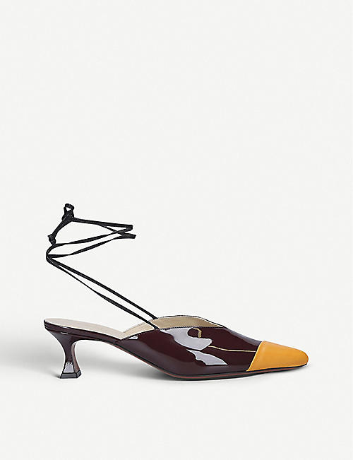 MANU ATELIER Manu patent-leather mules