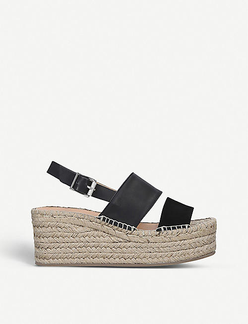 RAG AND BONE Edie leather espadrille wedges