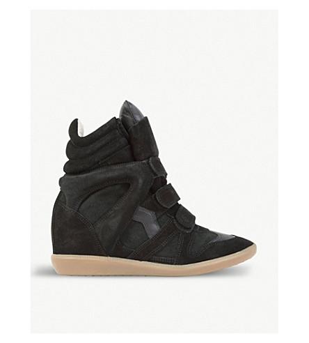 efada62c3ab ISABEL MARANT - Bekett suede and leather wedge trainers