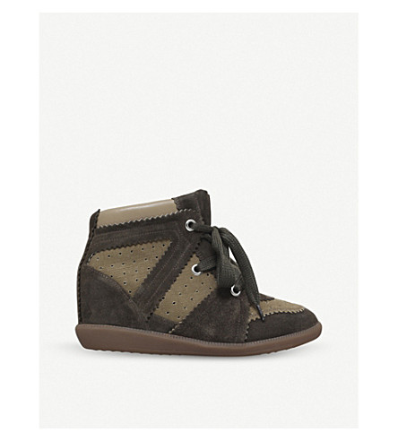 ... ISABEL MARANT Bobby suede wedge boots (Khaki. PreviousNext f4822d5dbfa7