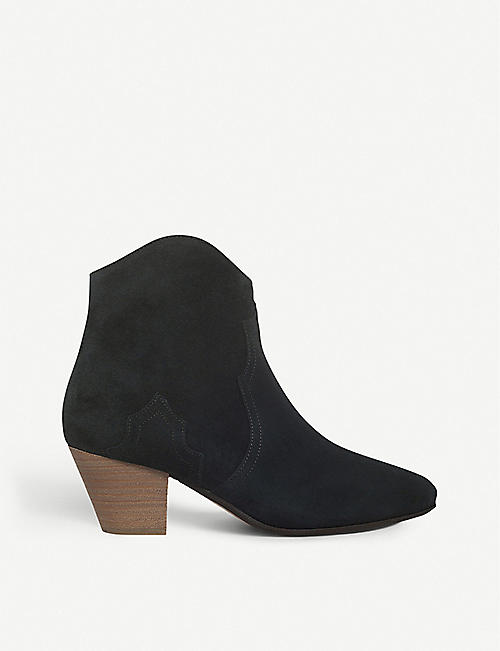 ISABEL MARANT: Dicker suede ankle boots