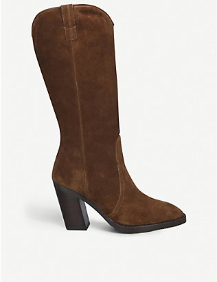 STUART WEITZMAN: Cheska suede knee-high boots