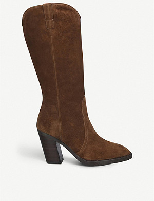STUART WEITZMAN Cheska suede knee-high boots