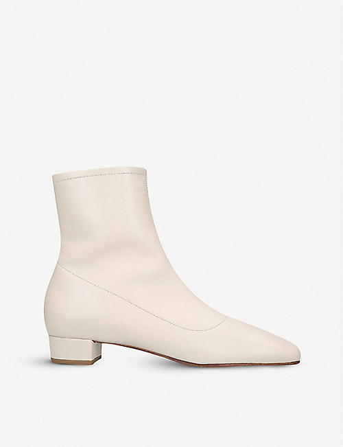 BY FAR Este leather heeled ankle boots