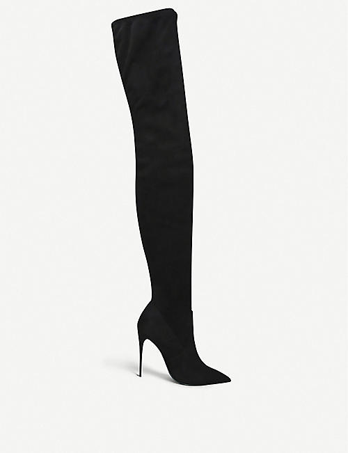 STEVE MADDEN Dominique over-the-knee faux-suede boots