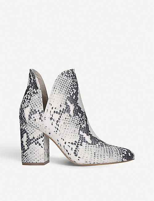 STEVE MADDEN Rookie snakeskin-print leather ankle boots