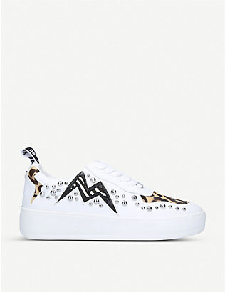 STEVE MADDEN: Brycin studded low-top trainers