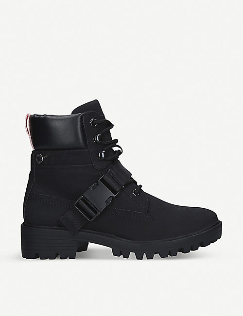 KENDALL & KYLIE Eos buckled faux-leather boots