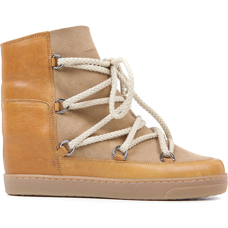 9fb87985009 Isabel Marant Nowles Suede and Leather Shearling Lined Ankle Boots,  Women's, Size: EUR