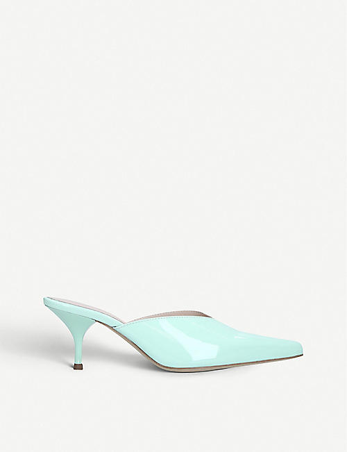 KALDA: Alba patent-leather mules