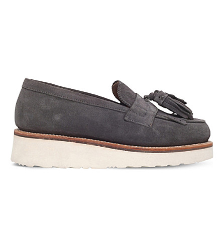 8c3a2ee1d6a GRENSON Clara suede loafers (Grey
