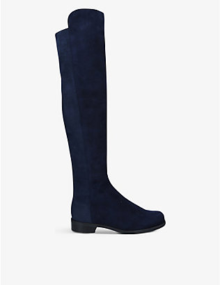 STUART WEITZMAN: 5050 suede over-the-knee boots