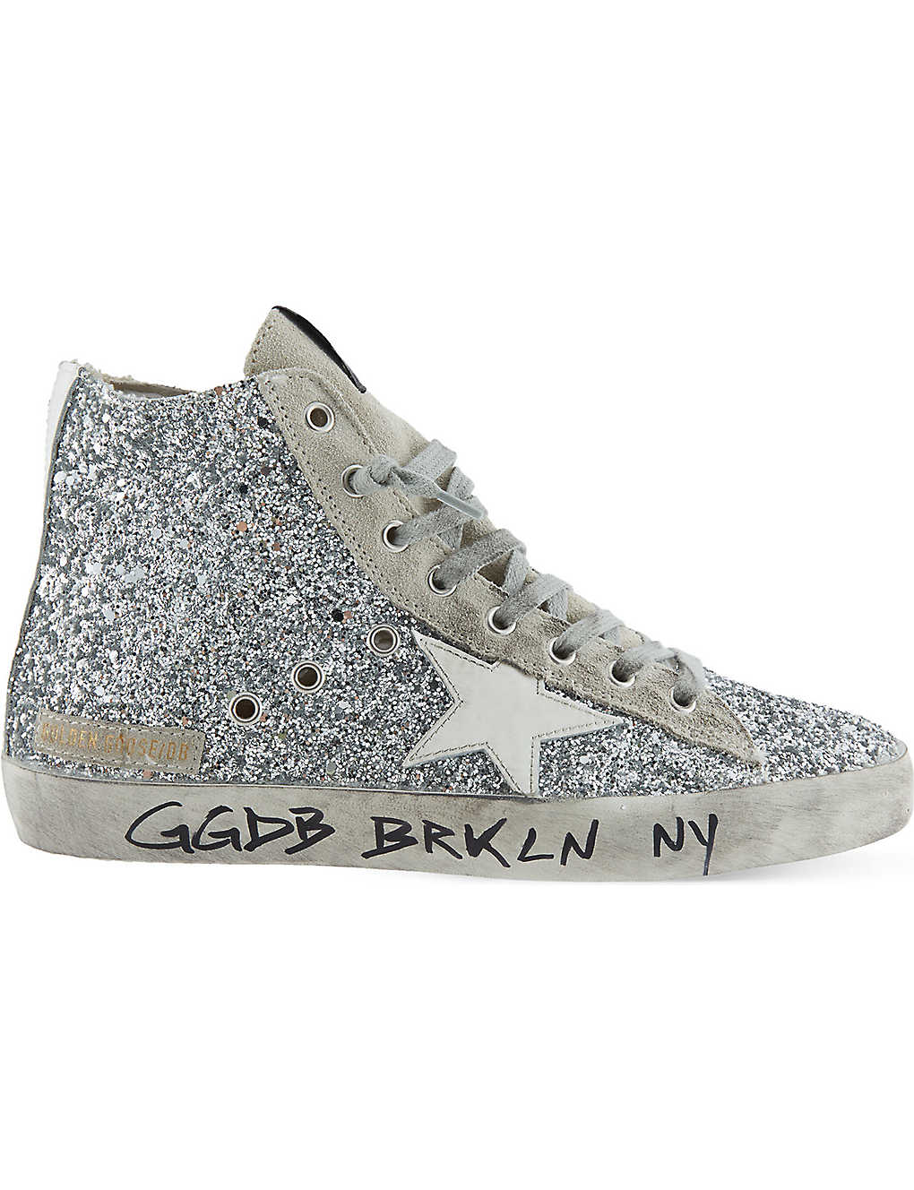 d2b38f02dbf1 GOLDEN GOOSE - Francy glitter high-top trainers   Selfridges.com