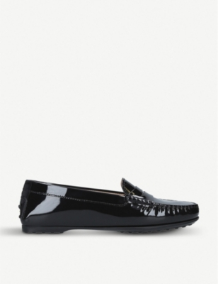 TODS Gomma Lu patent leather moccasins