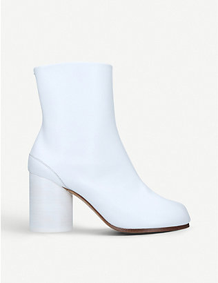 MAISON MARGIELA: Tabi leather split-toe boot