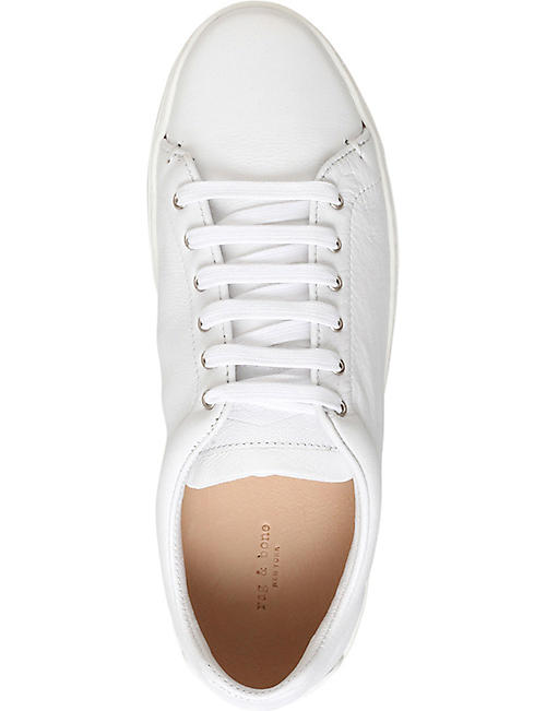 RAG AND BONE Kent leather lace-up trainers