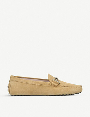 TODS Gommini Maxi Doppia suede driving shoes